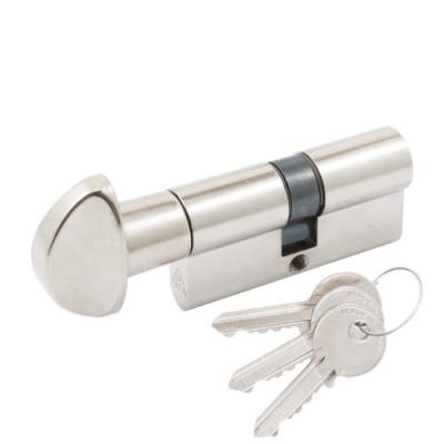 Цилиндр цветной Cortelezzi 117F 30x30 ключ/тумблер никель