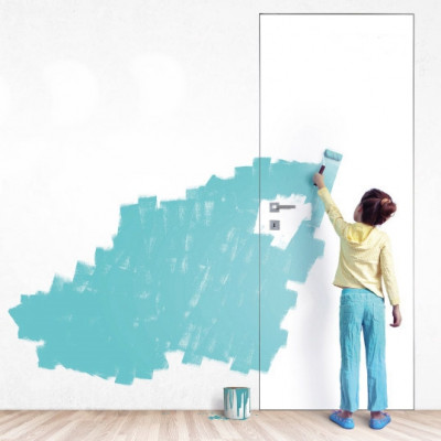 Скрытые двери под покраску или поклейку обоями Comeo Porte Bianco Plain